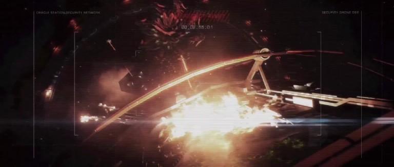 Elite Dangerous: Thargoidenangriff auf eine Raumstation im Video