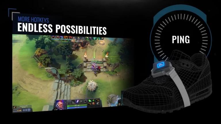 Bcon-Fußcontroller im Trailer