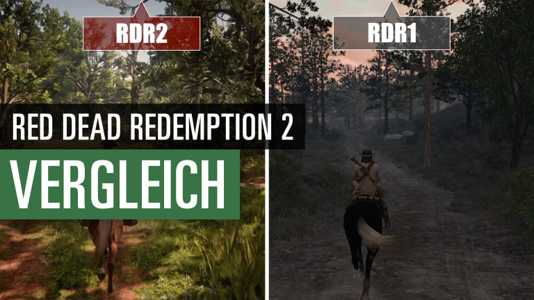Red Dead Redemption 2: Compare video with its predecessor