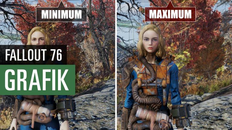 Fallout 76: Graphic Comparison (PC) - Minimum Vs. maximum