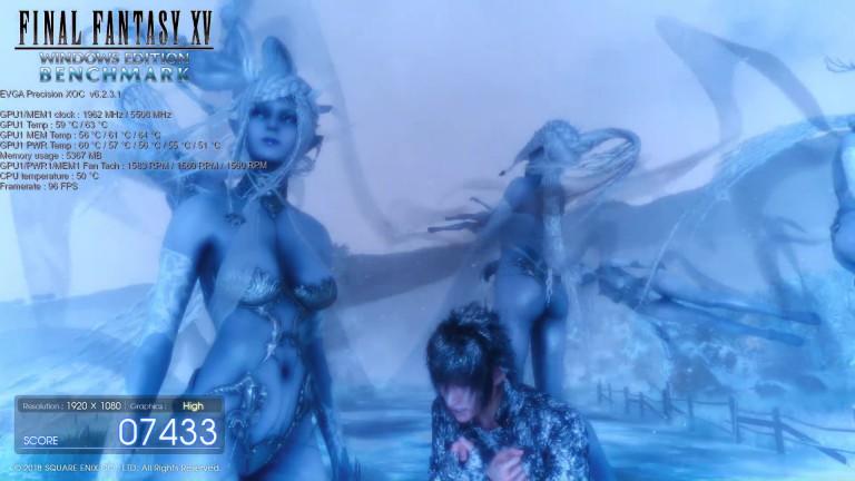 Final Fantasy 15: scene from the PC benchmark