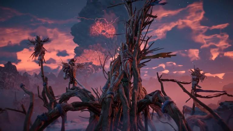 Horizon Zero Dawn Blauglanz Karte.Horizon Zero Dawn Coole Action Im Launch Trailer Zu The Frozen Wilds