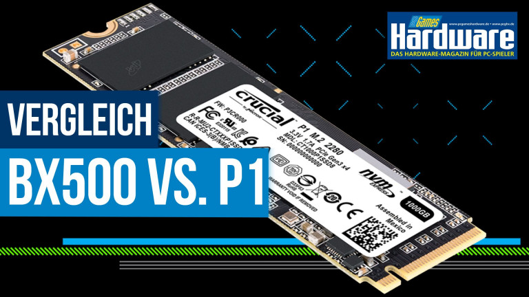 Crucial BX500 vs  Crucial P1: Wie viel bringt NVMe im
