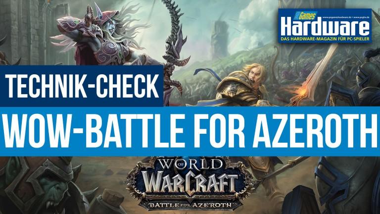 WoW Battle for Azeroth: Tuning-Tipps und CPU-/GPU-Benchmarkszenen im Video