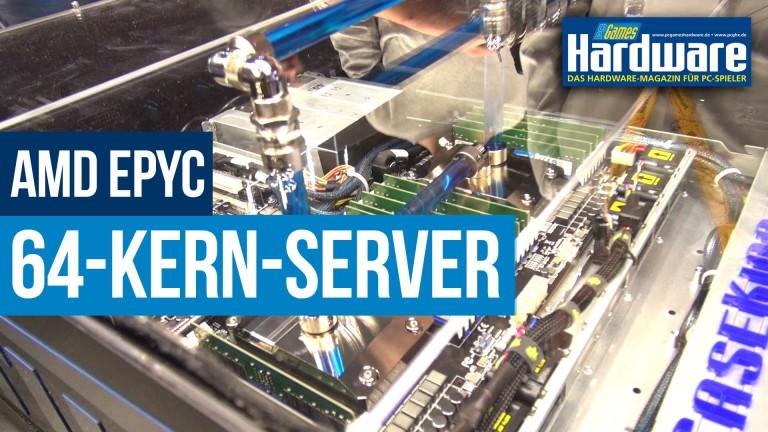übertakteter AMD-Epyc-Server mit 64 Kernen: Der8auer zeigt Cinebench-Rekordsystem